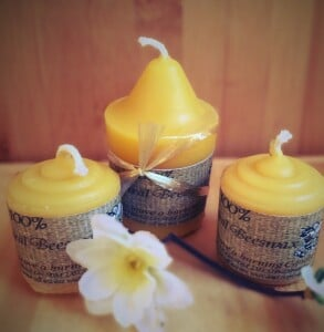 Ferguson Apiaries Natural Beeswax Votive Candles