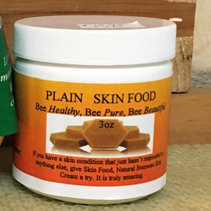 Natural beeswax skin food